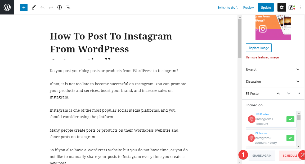 How To Automatically Post To Instagram From WordPress Using FS Poster