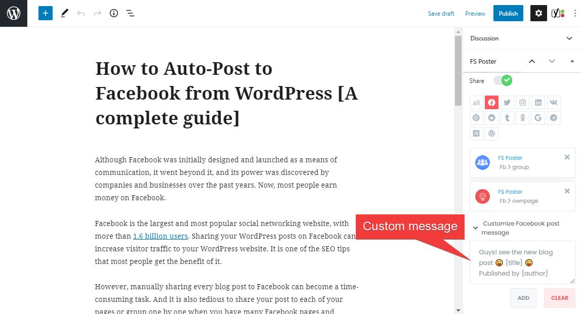 Cách tự động đăng bài lên Facebook từ WordPress