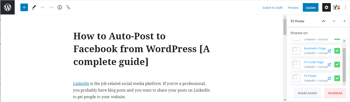 How to share WordPress posts to LinkedIn automatically