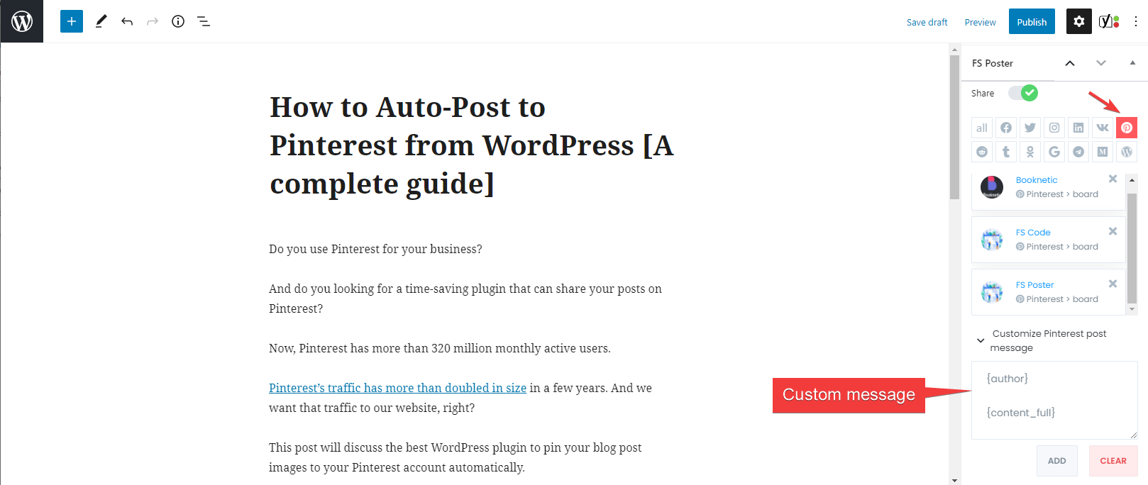 How to Pin to Pinterest from WordPress Automatically