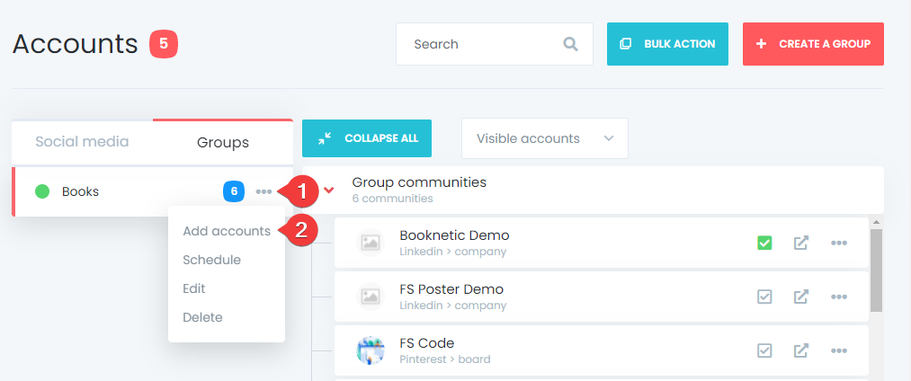 How To Create Account Groups And Share Posts On The Selected Accounts