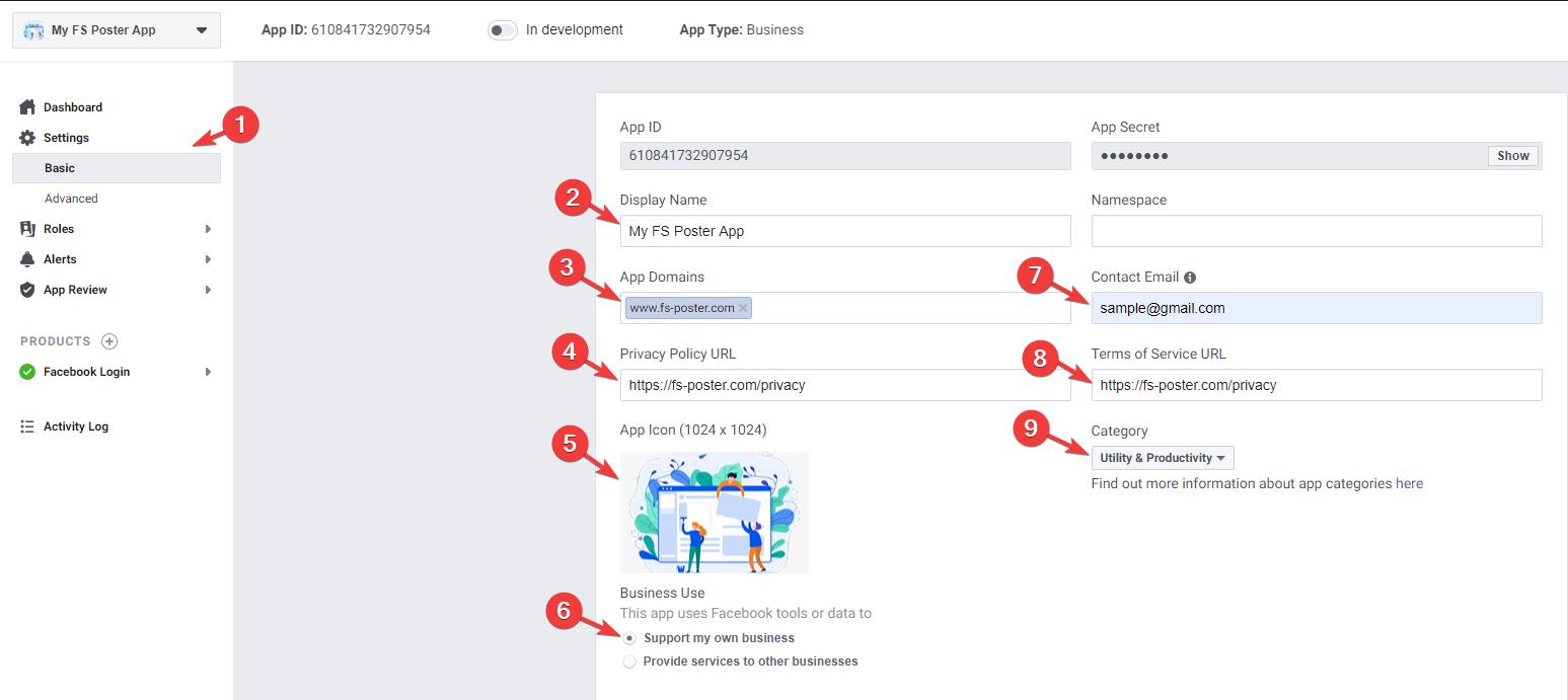 Facebook - Personal App Method - FS Poster WordPress Plugin