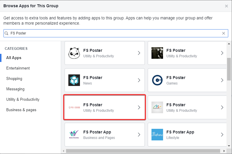 FS Poster plugin Adding Facebook account