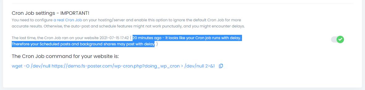 How to set up a Cron Job on WordPress | FS Poster WP Plugin