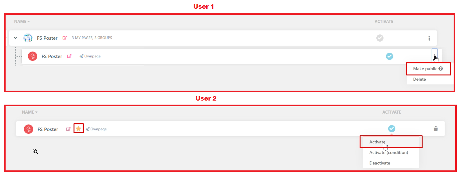 FS Poster plugin multi-user